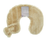 Biscuit Beige Cosy Faux Fur 2L Curved Neck Hot Water Bottle