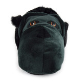 Mens / Older Boys Plush Faux Fur & Fleece 3D Novelty Gorilla Slippers