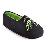 Boys Black Dino Skeleton Glow in the Dark Closed Back Slippers