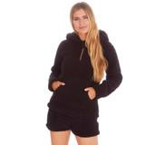 Ladies Black Borg Fleece Snuggle Lounge Shorts