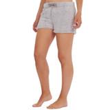 Ladies Grey Borg Fleece Snuggle Lounge Shorts