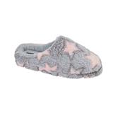 Jo & Joe Ladies Halo Grey Jacquard Star Mule Slippers
