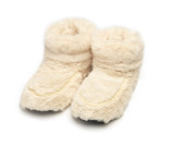 intelex cozy body cream fur microwavable slipper boots