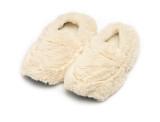 Intelex cozy body lavender microwavable cream fur slipppers