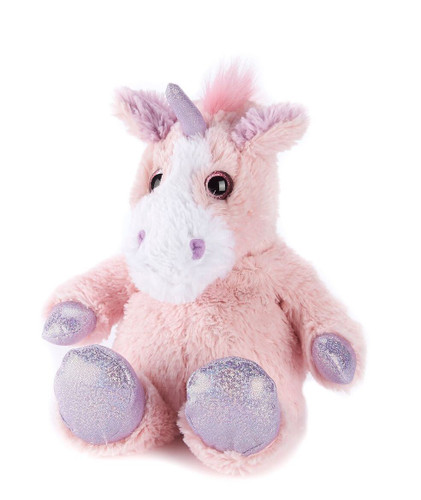 Warmies Cozy Plush Sparkly Pink Unicorn Fully Microwavable Toy
