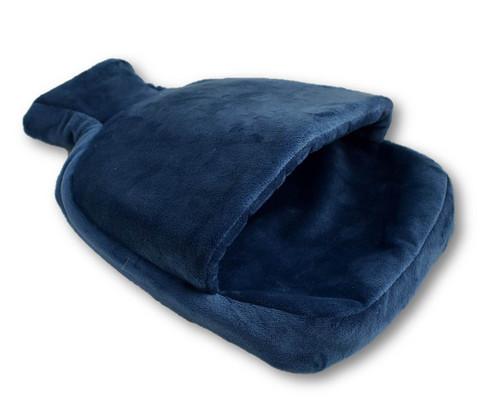Navy Fleece Single Pouch Hot Water Bottle Foot Warmer
