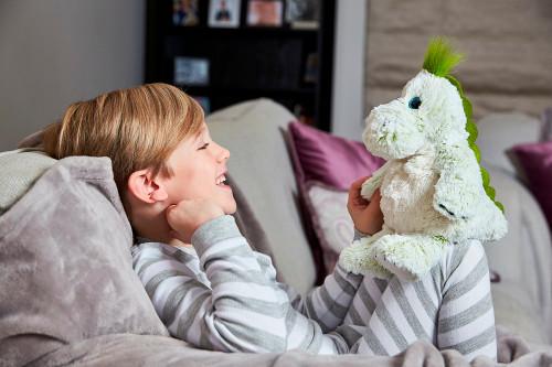 Warmies Cozy Plush Marshmallow Fur Dinosaur Fully Microwavable Soft Toy