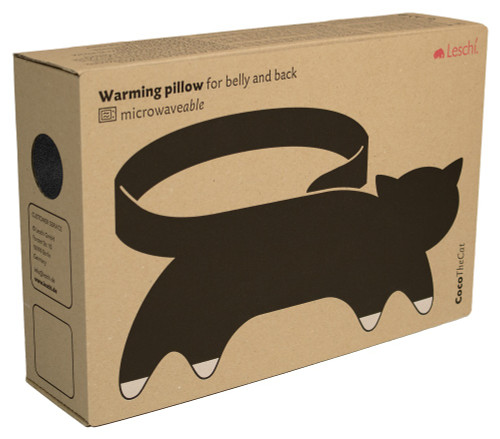 Coco the Cat Tummy & Back Warmer Wrap: Midnight Packaging