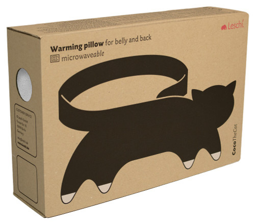 Coco the Cat Tummy & Back Warmer Wrap: Snow Packaging