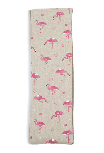 Lavender or Unscented Cotton & Fleece Wheat Bag: Pink Flamingos