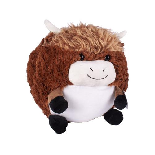 Cozytime Highland Cow Fluffy Faux Fur Giant Hand Warmer