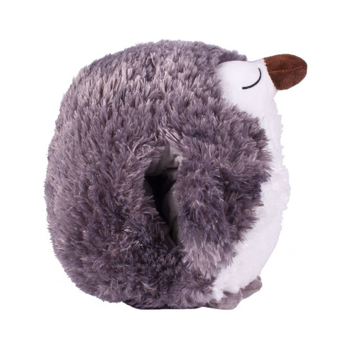 Cozytime Brown Owl Fluffy Faux Fur Giant Hand Warmer