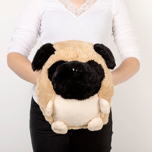 Cozytime Pug Fluffy Faux Fur Giant Hand Warmer