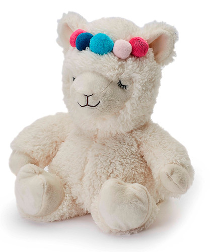Warmies Cozy Plush Cream Llama Fully Microwavable Toy