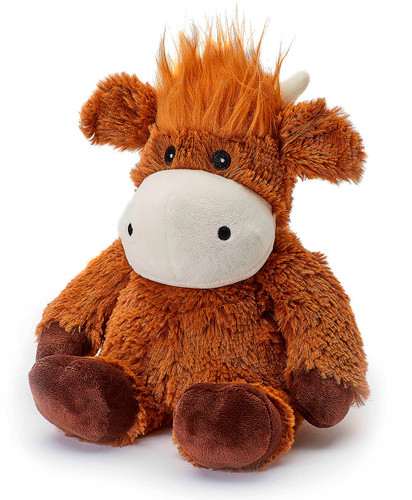Warmies Cozy Plush Highland Cow Fully Microwavable Toy