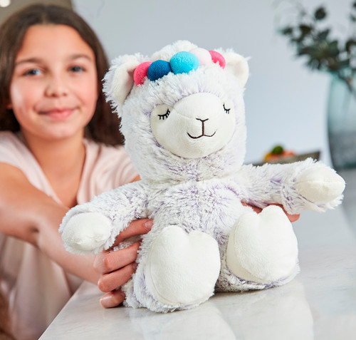 Warmies Cozy Plush Lilac Marshmallow Llama Fully Microwavable Toy