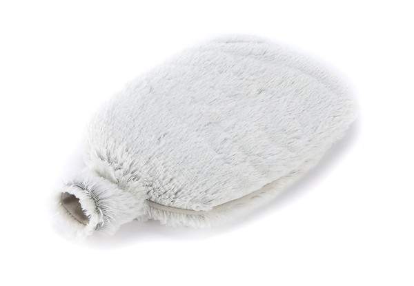 Warmies Cozy Body Grey Marshmallow Fur Microwavable Bottle