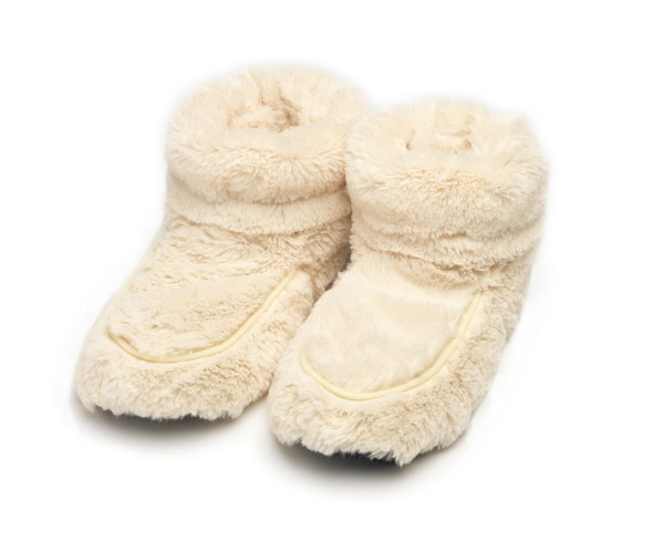 intelex cozy body cream fur microwavable slipper boots