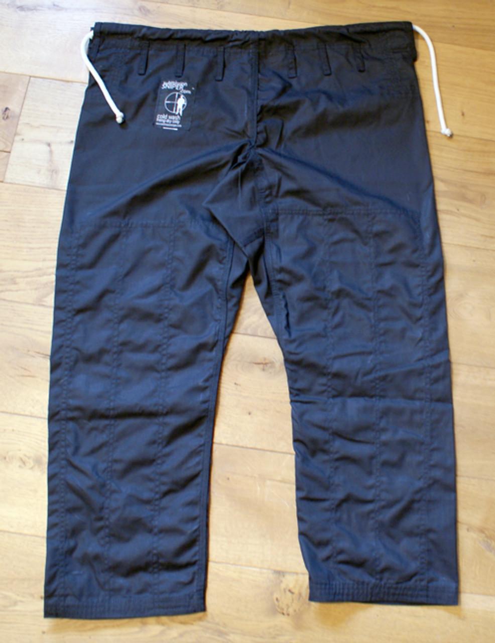 BJJ Pants, Riptstop Fabric BLACK, Trousers, Brazilian Jiu Jitsu