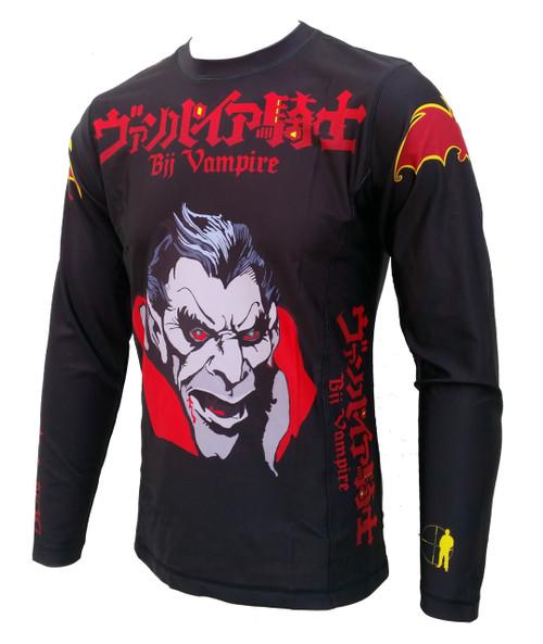 "Don't Get Too Close! ""BJJ Vampire'' Rash Guard, BJJ MMA"