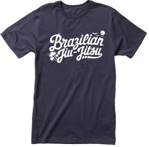 Paradise Brazilian Jiu-Jitsu T-shirt, White Graphic (Many Shirt Colours)