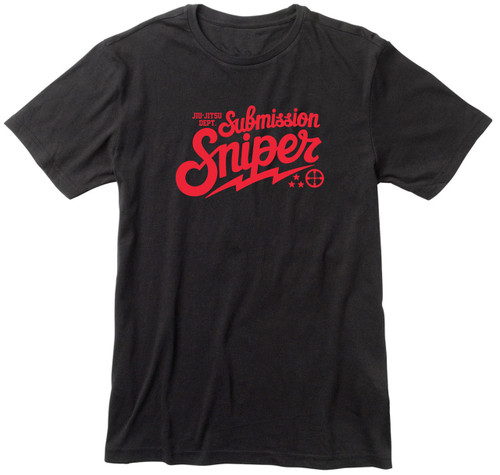 Sniper Wonka BJJ T-shirt Red Logo (Many Shirt Colours)