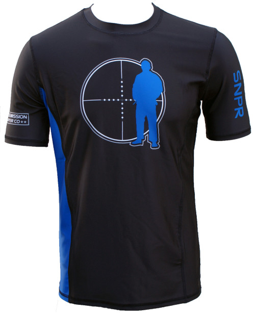 BJJ Rash guard, Blue Belt - IBJJF Standard