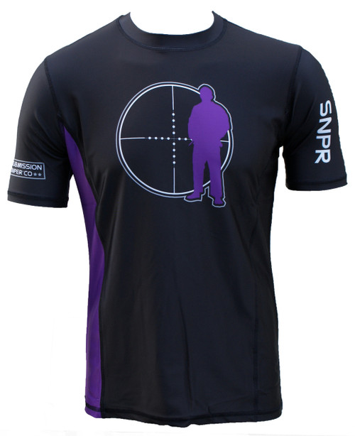 BJJ Rash guard, Purple Belt - IBJJF Standard