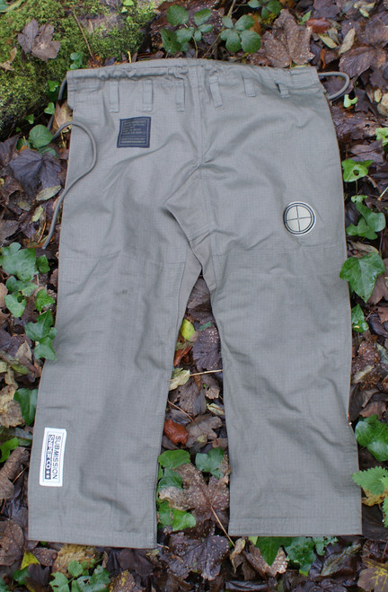 """Pants - """" Ezekiel Korps"""" Limited  Green BJJ GI, Black Ops Design #5"""