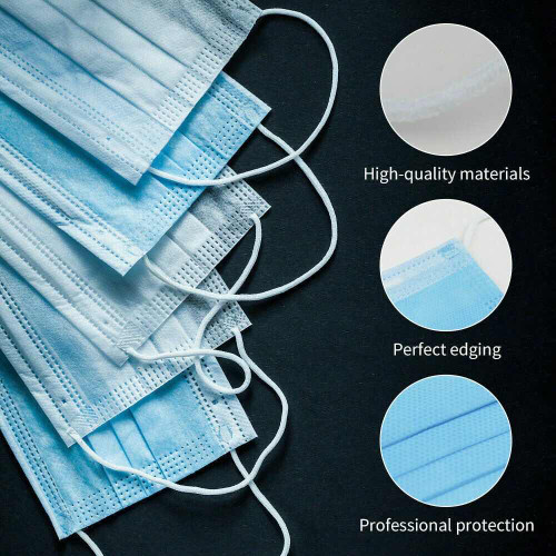 Medical Face Mask  3 ply Disposable x 50
