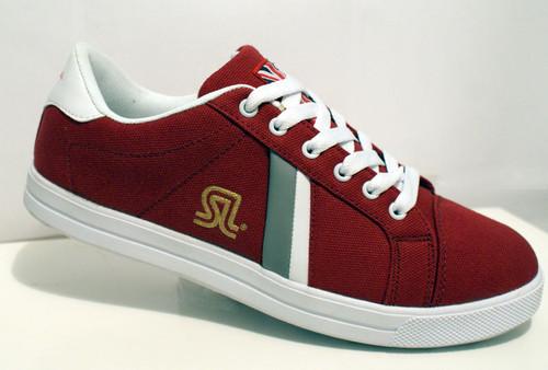 Maroon Uno shoes by SL daps