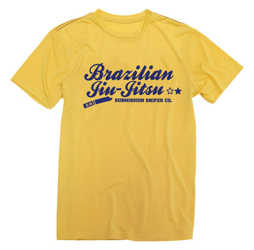 Smooth Brazilian Navy Graphic Jiu-Jitsu T-shirt (Many Colours)