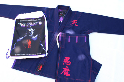 "Classic ""Gouki GI""  Great Demon, Akuma,  Street Fighter character esque BJJ GI"