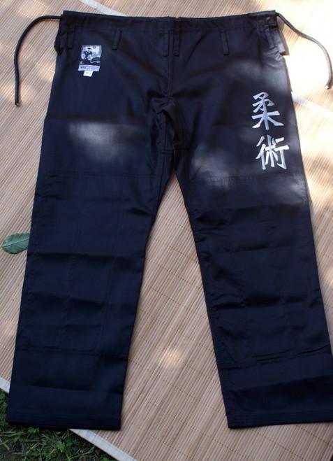 Jiu-Jitsu Kanji Samurai Pant Black, BJJ Gi, Ju Jitsu Gi, Kimono