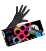 "First Class coloring gloves with a rolled cuff that lengthens 3"" on the wrist to provide ultimate protection. Extra strength high-quality Nitrile material, Claw Proof! Powder Free. Gentle on hair, gentle on hands. Excellent 'stretch' material to fit all hand types 100 per box"