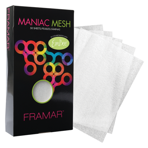 "• Conveniently sized 6x11"" pre cut     mesh strips. • Re-usable; just spray down, then     wash with hot soapy water and dry.     100% barbicide safe! • Color and lightener hugs the mesh     strips, eliminating slippage. • Foil alternative that is healthy and     safe for the environment. • Transparent, see the color right     through for easy processing."