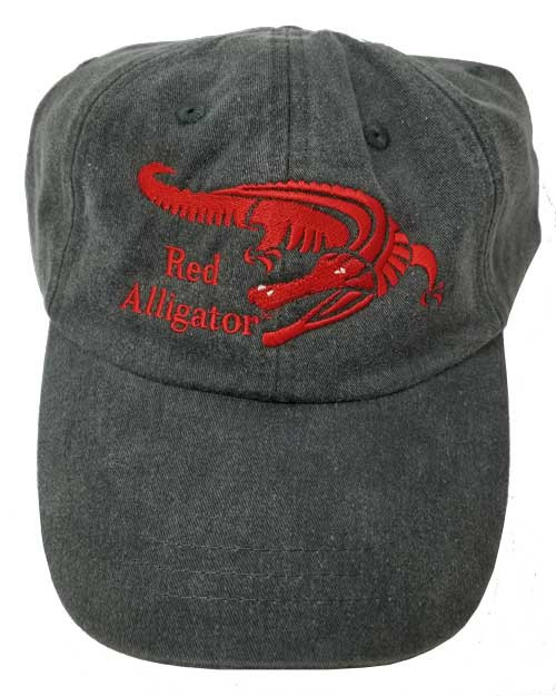 Red Alligator Cap in Grey