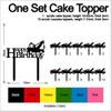 TC0254 Tow Truck Happy Birthday Cake Cupcake Toppers Acrylique De Mariage Joyeux pour Gâteau Partie Décoration 11 Pièces