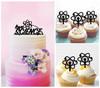 TC0259 Love Science Cake Cupcake Toppers Acrylique De Mariage Joyeux pour Gâteau Partie Décoration 11 Pièces