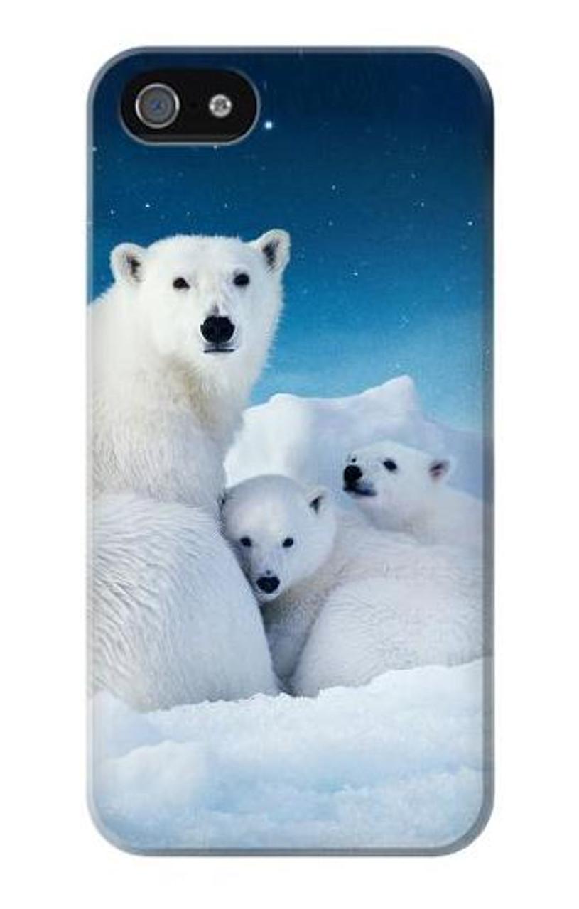 S0285 Ours polaire Etui Coque Housse pour iPhone 5 5S SE