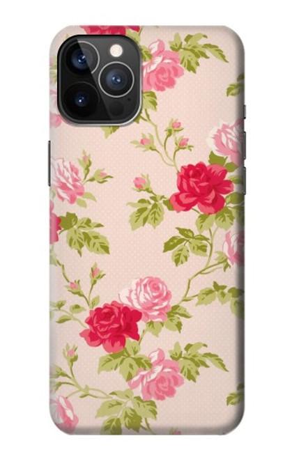 S3037 Jolie Flora Rose Cottage Etui Coque Housse pour iPhone 12, iPhone 12 Pro