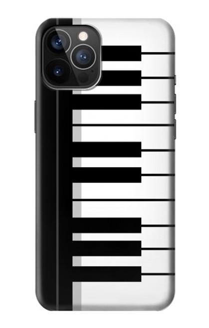 S3078 Noir et blanc Clavier de piano Etui Coque Housse pour iPhone 12, iPhone 12 Pro