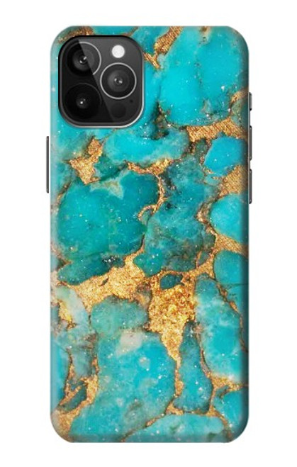 S2906 Aqua Turquoise Pierre Etui Coque Housse pour iPhone 12 Pro Max
