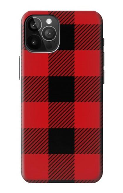 S2931 Rouge Buffle motif de vérification Etui Coque Housse pour iPhone 12 Pro Max
