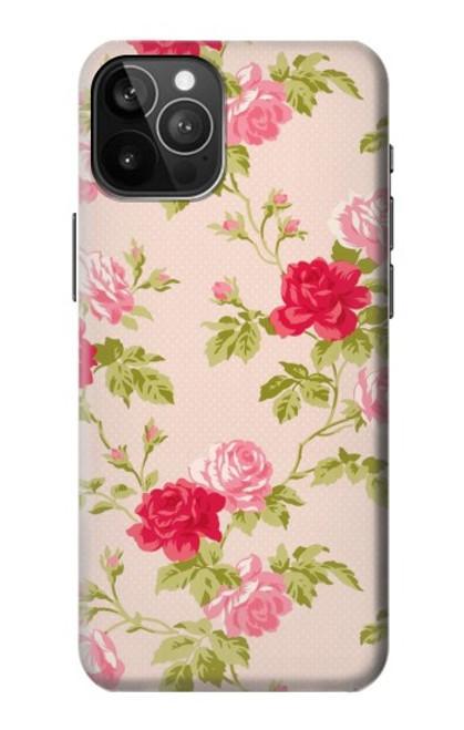 S3037 Jolie Flora Rose Cottage Etui Coque Housse pour iPhone 12 Pro Max