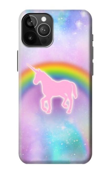 S3070 Arc en ciel pastel ciel Licorne Etui Coque Housse pour iPhone 12 Pro Max
