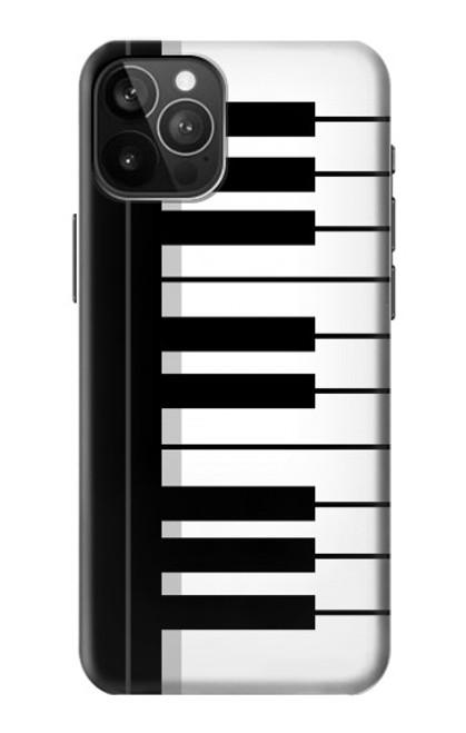 S3078 Noir et blanc Clavier de piano Etui Coque Housse pour iPhone 12 Pro Max