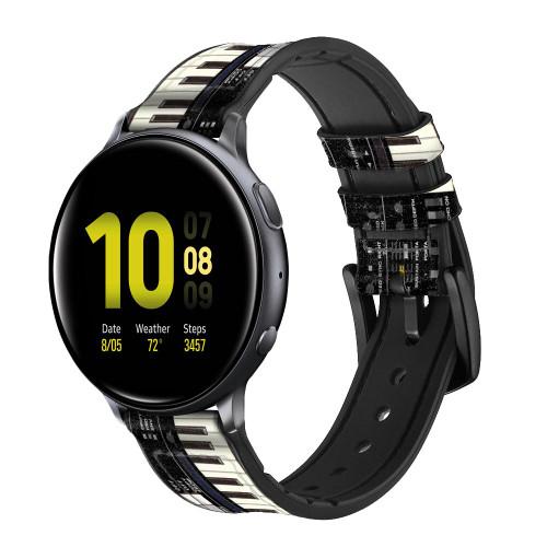 CA0002 synthétiseur Bracelet de montre intelligente en cuir et silicone pour Samsung Galaxy Watch, Gear, Active