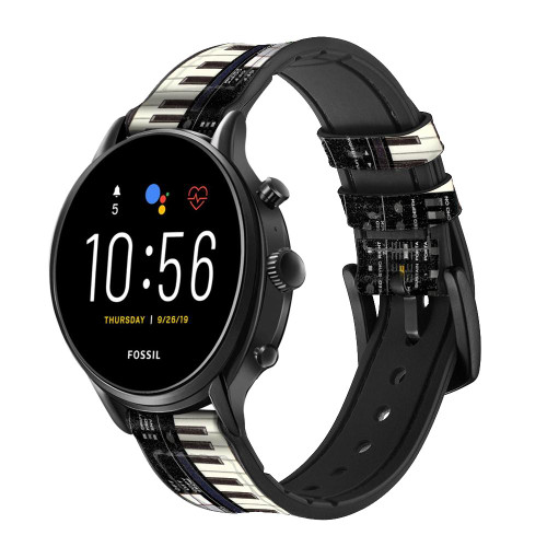 CA0002 synthétiseur Bracelet de montre intelligente en cuir et silicone pour Fossil Smartwatch