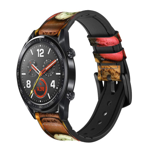 CA0009 macarons Bracelet de montre intelligente en cuir et silicone pour Wristwatch Smartwatch